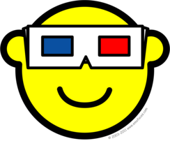 3D glasses buddy icon