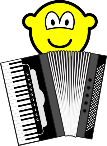 Accordion playing buddy icon
