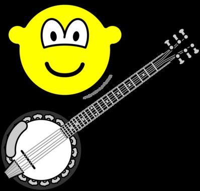Banjo playing buddy icon