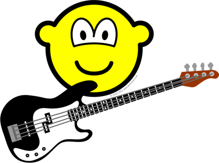 Bass playing buddy icon