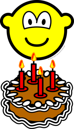 Blowing out candles buddy icon