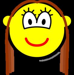 Brunette buddy icon