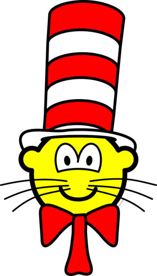Cat in the hat buddy icon