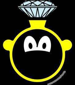 Diamond ring buddy icon