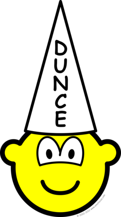 Dunce buddy icon