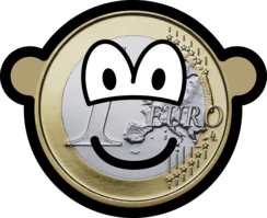 Euro coin buddy icon