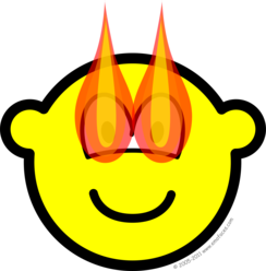 Flaming eyes buddy icon