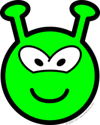 Green alien buddy icon