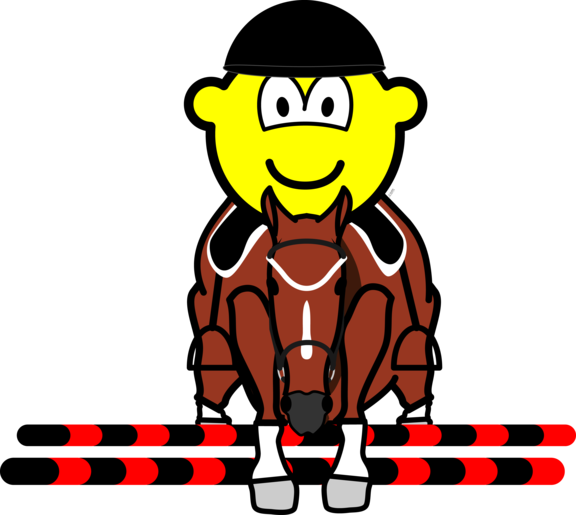 Horse show jumping buddy icon
