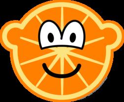 Orange buddy icon