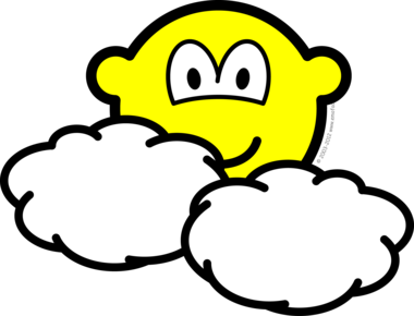 Partly cloudy buddy icon