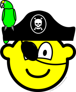 Pirate with parrot buddy icon