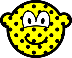 Polka dotted buddy icon