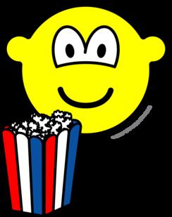 Popcorn eating buddy icon