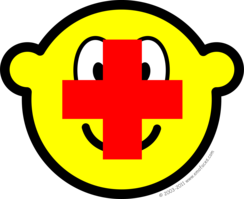 Red cross buddy icon