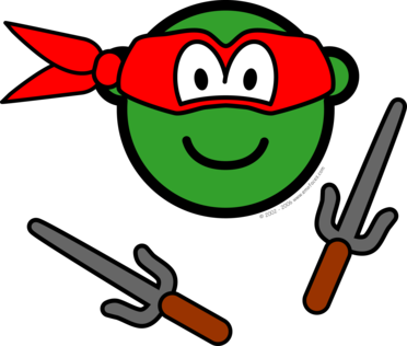 Red Ninja Turtle buddy icon