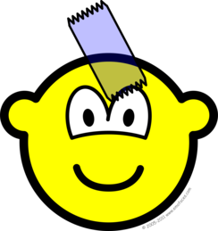 Sticky taped buddy icon