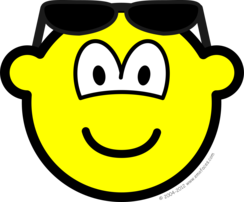 Sun glasses on head buddy icon