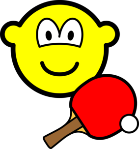 Table tennis playing buddy icon