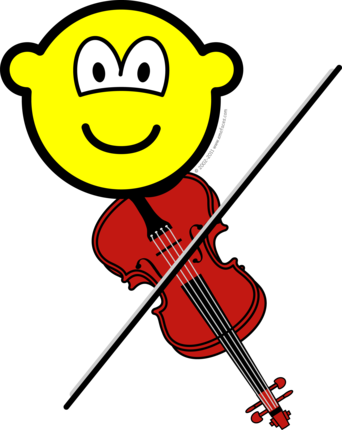 Violin playing buddy icon