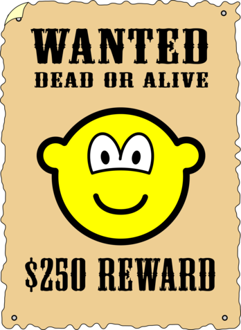 Wanted poster buddy icon