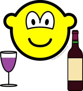 Wine drinking buddy icon