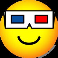 3D glasses emoticon