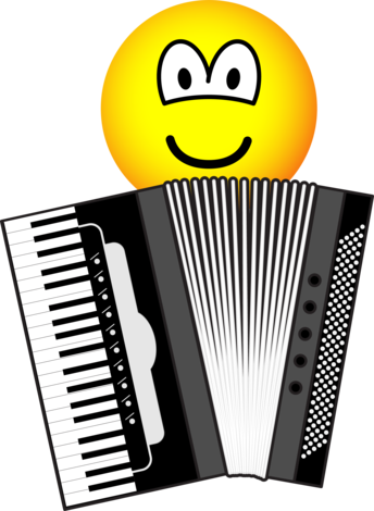Accordion playing emoticon