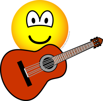 Acoustic guitar emoticon