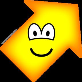 Up right emoticon