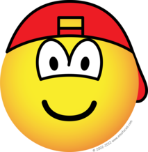 Backward cap emoticon