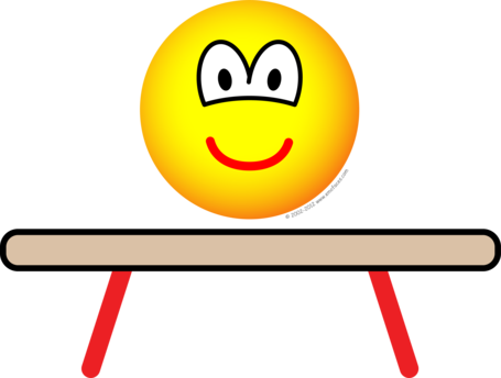 Balance beam emoticon