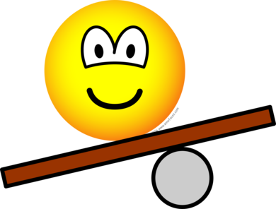 Balance board emoticon