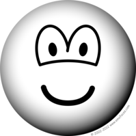 Black and white emoticon