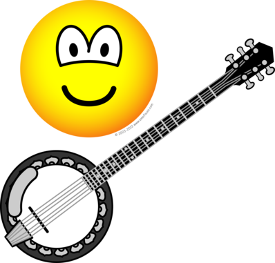 Banjo playing emoticon