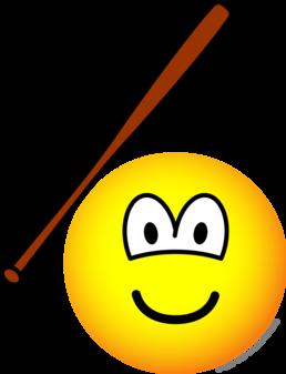 Baseballing emoticon