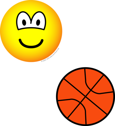 Basketball playing emoticon