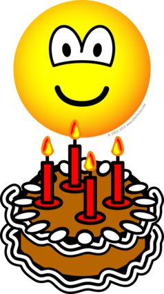 Blowing out candles emoticon