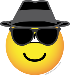 Blues brother emoticon