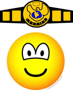 Boxing champion emoticon