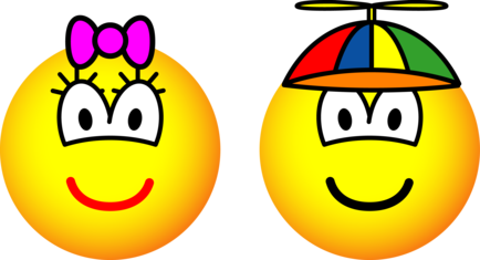 Brother and sister emoticon