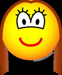 Brunette emoticon