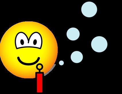 Bubble blowing emoticon
