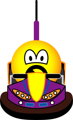 Bumper car emoticon