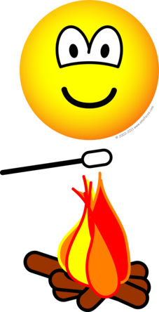 Campfire marshmallow emoticon