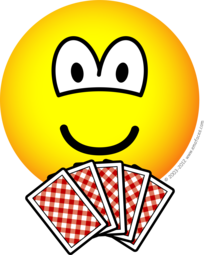 Card playing emoticon