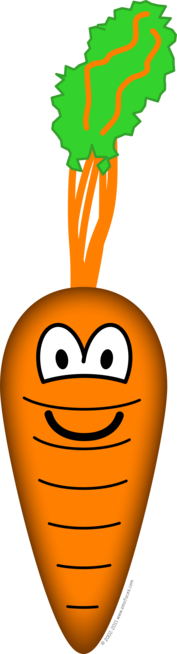 Carrot emoticon