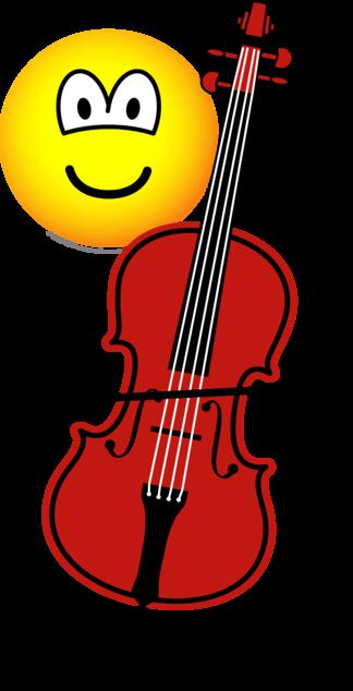 Cello playing emoticon