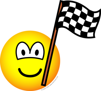 Checkered flag emoticon