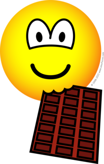 Chocolate eating emoticon